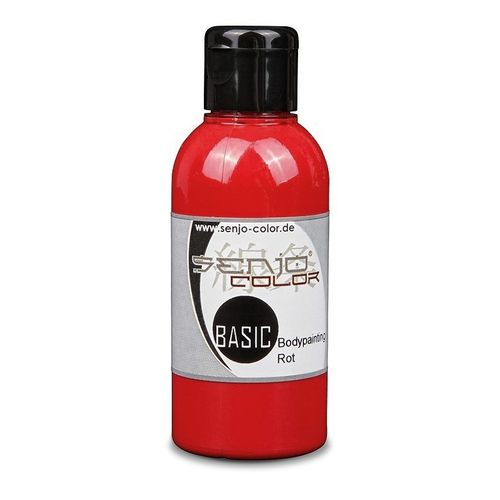 Basic Bodypainting Farbe 75ml für Airbrush & Pinsel Senjo-Color ROT