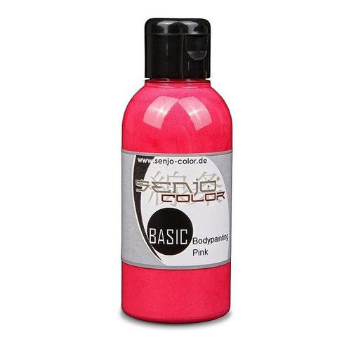 Basic Bodypainting Farbe 75ml für Airbrush & Pinsel Senjo-Color PINK