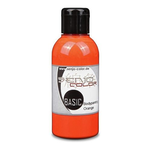 Basic Bodypainting Farbe 75ml für Airbrush & Pinsel Senjo-Color ORANGE