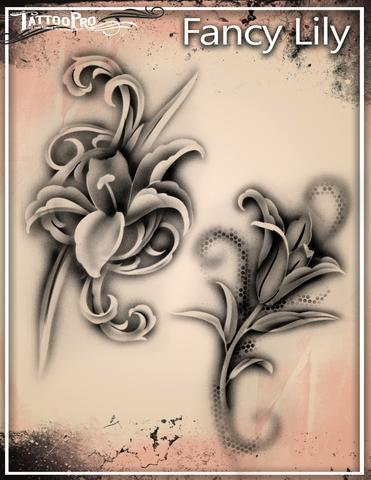 Tattoo Pro Stencils Fancy Lily