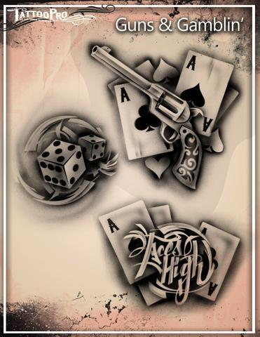 Tattoo Pro Stencils Guns & Gamblin