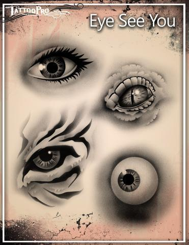 Tattoo Pro Stencils Eyes See You