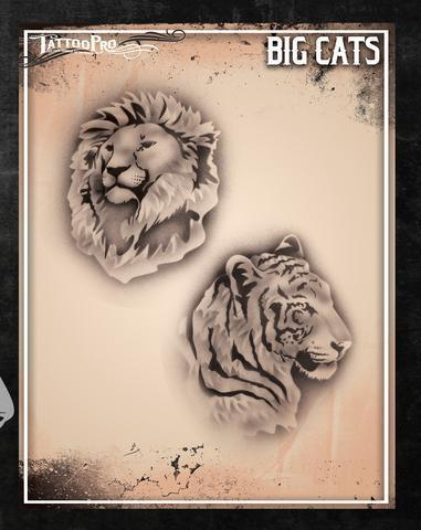 Tattoo Pro Stencils Big Cats