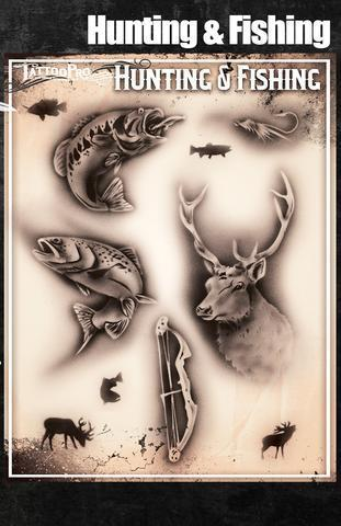 Tattoo Pro Stencils Hunting & Fishing