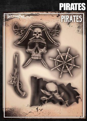 Tattoo Pro Stencils Pirates