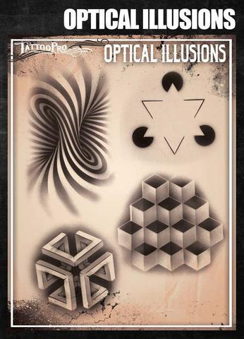Tattoo Pro Stencils Optical illusions