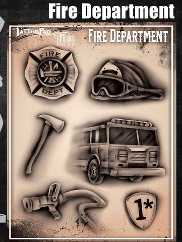 Tattoo Pro Stencils Fire Department / Feuerwehr