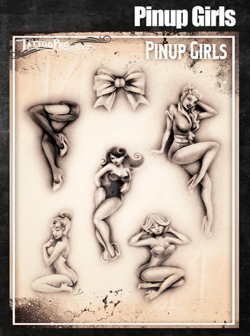 Tattoo Pro Stencils Pinup Girls
