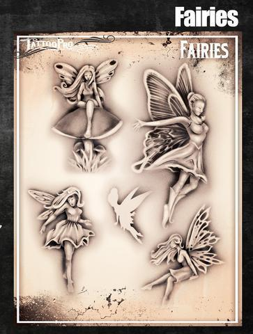 Tattoo Pro Stencils Fairies/ Feen