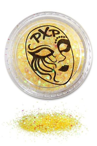 PXP Professional Colours Glitter, Lemon Yellow, feiner Glitzer 5gr