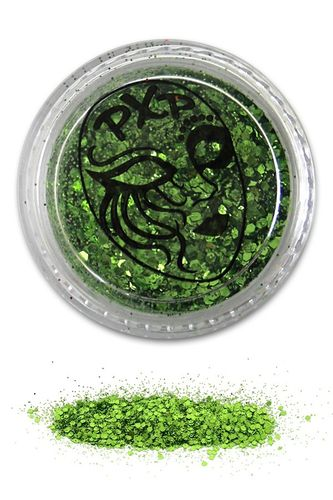 PXP Professional Colours Glitter, Tropical Green, feiner Glitzer, 5gr