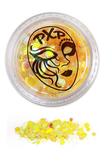 PXP Professional Colours Glitter, Lemon Yellow, 5gr