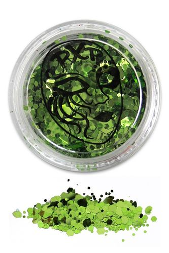 PXP Professional Colours Glitter, Tropical Green, 5gr
