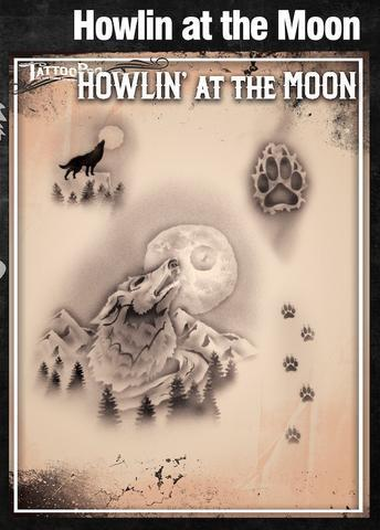 Tattoo Pro Stencils Howlinat the moon