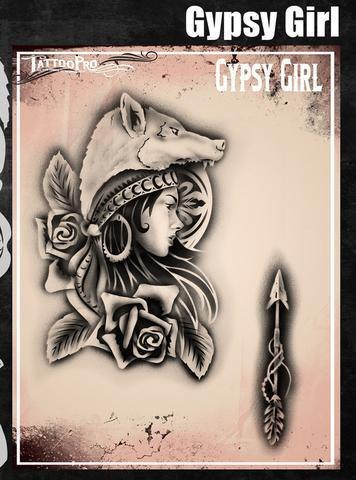Tattoo Pro Stencils Gypsy Girl