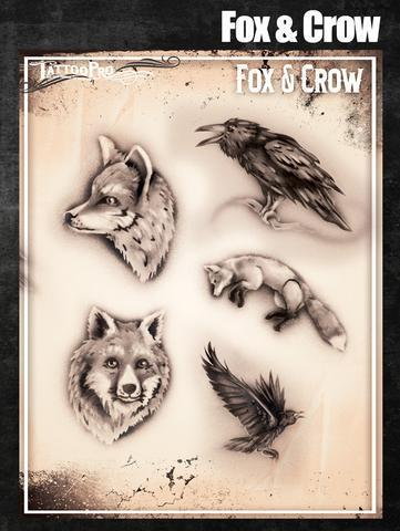 Tattoo Pro Stencils Fox and Crow