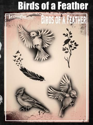 Tattoo Pro Stencils Birds of a Feather