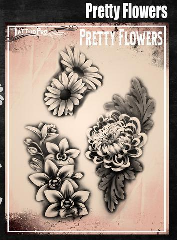 Tattoo Pro Stencils Pretty Flowers