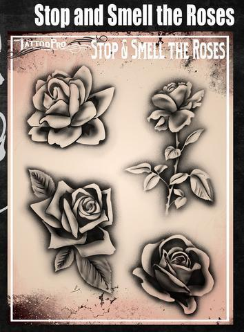 Tattoo Pro Stencils Stop and Smell the Roses