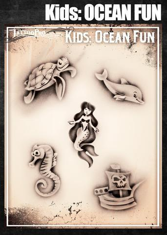 Tattoo Pro Stencils Kids Ocean Fun