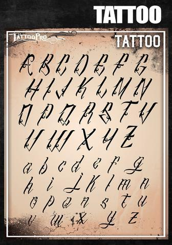 Tattoo Pro Stencils Tattoo Font