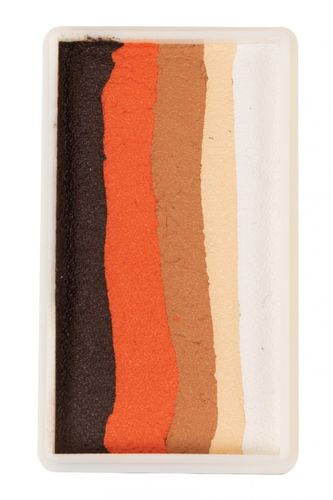 PXP 28 gram splitcake block Ebony - orange - light brown - light beige - white