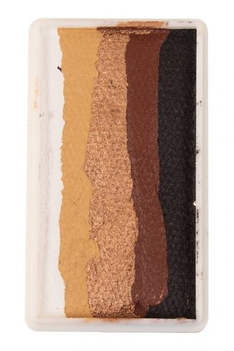 PXP 28 gr. splitcake block White - gold - copper - brown -black