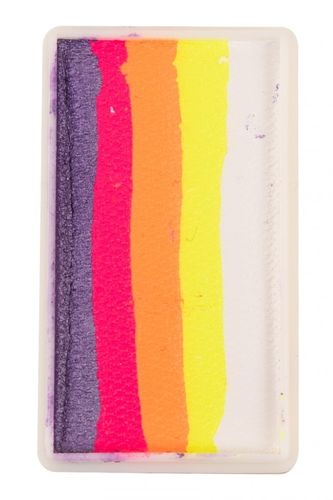 PXP 28 gr. splitcake block Pearl purple - neon pink - neon orange - neon yellow - white