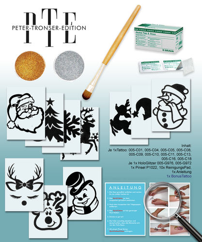 QuickTattoo Set 8, Weihnachts Box