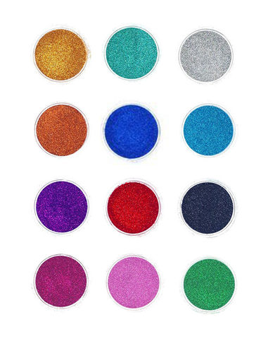 Quick-Tattoo, Holo Glitter Set Rainbow, 12x3ml